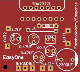 audio amplifier  using TDA7377