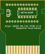 Atari 2600 Cart 2K_4K PCB No Logo V1_0
