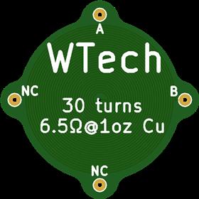30 turn each side PCB coil