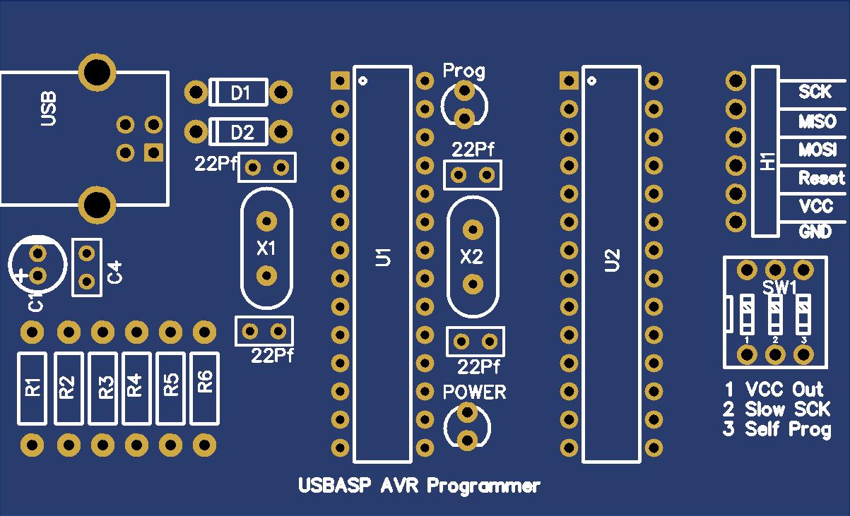USBASP AVR Programmer With ZIF