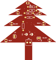 Simple Xmass Tree Using BC548