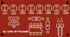 PIC12F629 LED Chaser