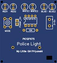 PIC12F675 Police Light