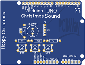 Christmas Melody Sound Arduino UNO Shield