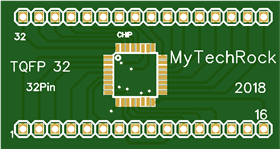 TQFP32 0.8mm pitch to DIP Adaptor