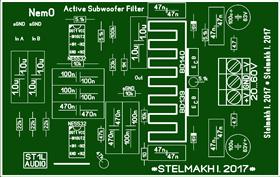 Active Subwoofer Filter \ Активный Фильтр сабвуфера