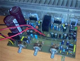 Stereo Amplifier To TDA7293 + Rectifier + Ac Protection + Timbre Block \ Аудио усилитель