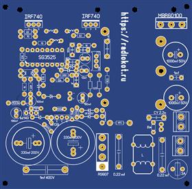IBP блок питания с защитой от кз и стабилизацией 600 ватт  SG3525