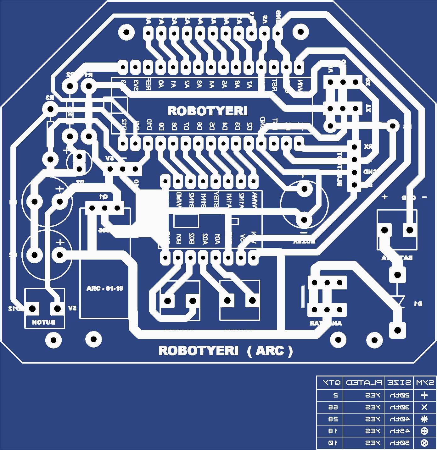 robotyeri.com -  Fast Line Tracking Robot nano motherboard
