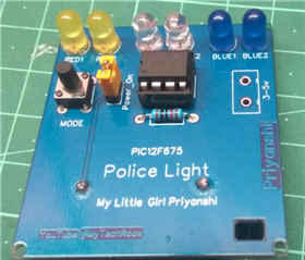 Police Light Using PIC 12F675