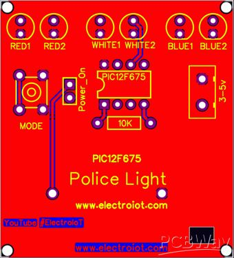 Police Light Using PIC 12F675 - Share Project - PCBWay