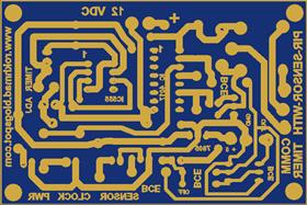 pir sensor with 555 timer 4017 counter