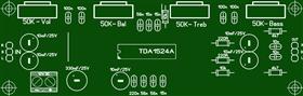 Volume, balance and tone control on the TDA1524A \ Темброблок