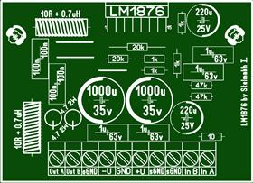 Audio amplifier LM1876 \ Усилитель мощности звука