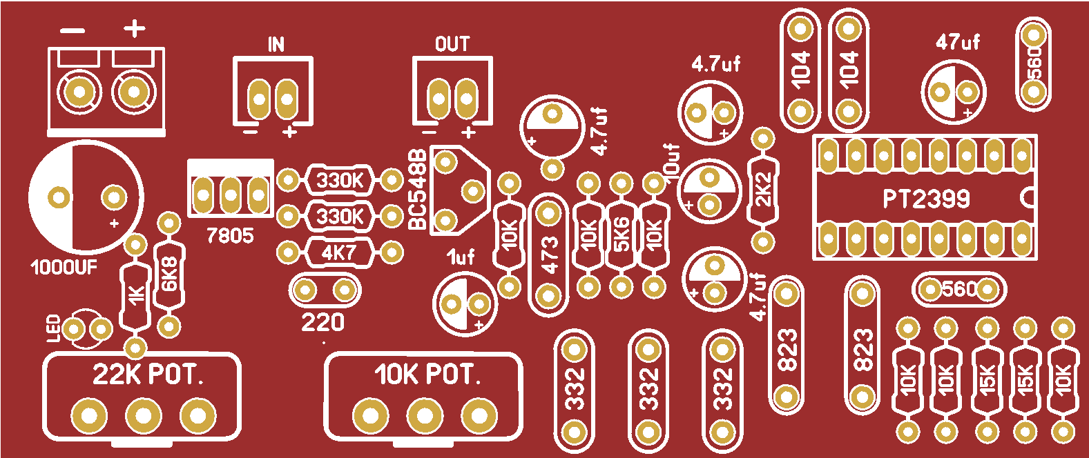 Echo Effect Preamp Board for Microphone with PT2399 IC DIY