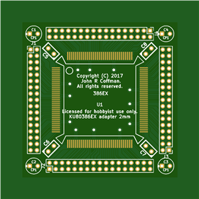 80386EX Adapter Board 50mm x 50mm