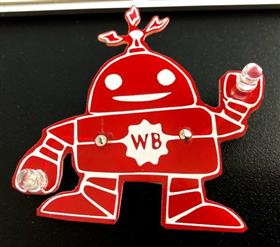Weeby, the Learn to Solder badge